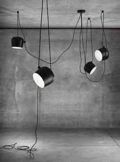 The Aim Pendant Lamp by the Bouroullecs is Adjustable