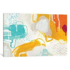 """East Urban Home 'Playful Color II' Painting Print on Wrapped Canvas Size: 40"""" H x 60"""" W x 1.5"""" D"""