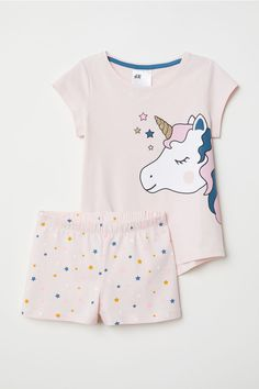 Pyjamas in soft cotton jersey with a print motif. Cute Pajama Sets, Cute Pajamas, Girls Pajamas, Fashion Kids, Cute Nightgowns, Cute Sleepwear, Unicorn Kids, Pajama Outfits, Cute Outfits For Kids