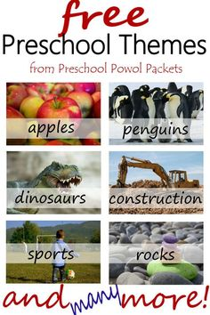 amazing! FREE preschool themes!! Could even use with kindergarten and homeschool!! Lots of great ideas for crafts, science, pre-reading, free printables, & more!!