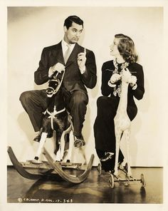 "One of my favourite movies!! Cary Grant, Katharine Hepburn in ""Holiday"" (1938). Director: George Cukor."