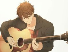 Anime boy with guitar~ Isn't that one of the guys from Free! Just grown up? Manga Anime, Fanart Manga, Fanarts Anime, Manga Boy, Anime Art, Cool Anime Guys, Cute Anime Boy, Anime Love, Hot Anime