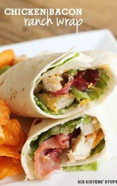 Chicken Bacon Ranch Wrap – Six Sisters' Stuff