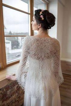 Wedding mohair wrap knitted gray shawl wedding lace shawl