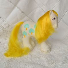 Vintage My Little Pony 'Daddy AppleDelight' Family White Yellow Big Brother Boy Earth - G1 - 1987 - Rare - MLP - Apple Delight by TeaJay, Vintage  Toy  Animal  Big Brother  Boy  Daddy  G1  1987  MLP  My Little Pony  Men  Family  Dad  Baby Apple Delight  Yellow
