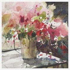 new ideas flowers acuarela illustration beautiful Watercolor Landscape, Watercolor And Ink, Watercolor Flowers, Watercolour Paintings, Art Floral, Alcohol Ink Art, Abstract Flowers, Flower Art, Beautiful Flowers
