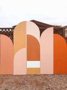 Installation Art Installation art from Tiffany Lusteg. Geometric Patterns, Color Patterns, Color Schemes, Blush Color Palette, Art Installation, Color Stories, Location, Event Design, Color Inspiration