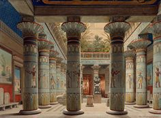 The Egyptian Temple Court in the Neues Museum Berlin Eduard Gaertner (1801-1877)