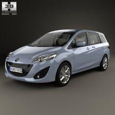 Mazda 5 with HQ interior 2010 3D Model .max .c4d .obj .3ds .fbx .lwo .stl @3DExport.com by humster3D