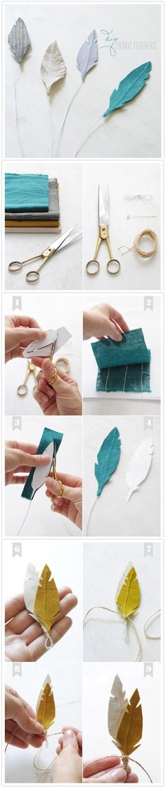 DIY fabric feathers