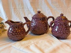 Vintage Grape Teapot Set Made in China by Vintage42Day on Etsy