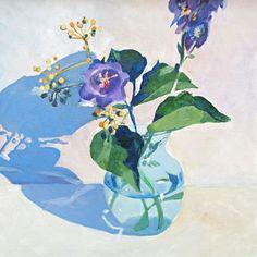 Glass & sunshine 1, oilpaint by Deborah Freriks.