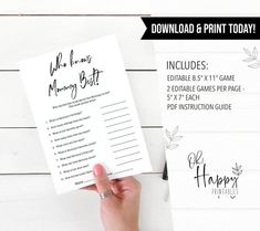 Fun Baby Shower Games, Baby Games, Who Knows Mommy Best, Birthday Games, Gender Neutral Baby Shower, Baby Shower Printables, Cool Baby Stuff, This Or That Questions, Join
