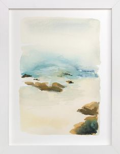 Dang if you don't buy some of this art I prob will!   Beach by Yao Cheng at minted.com