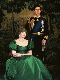 Formal Engagement Portrait of Prince Charles and Lady Diana Spencer