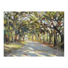 Southern Oaks Stretched Canvas- basement artwork
