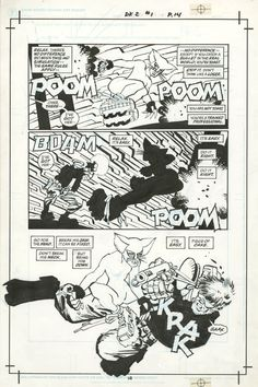 DARK KNIGHT STRIKES AGAIN #1 PAGE 14 ( 2001, FRANK MILLER ) Catwoman Battle Page Comic Art