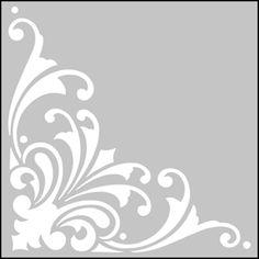 343 - Corner No 2 stencil design.                                                                                                                                                      Más
