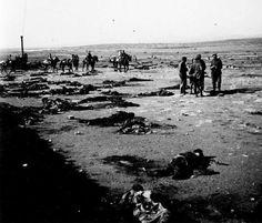 Cadáveres de soldados españoles en el Monte Arruit.