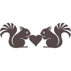 Vinyl decal Love Squirrels by thoughtsthatstick on Etsy, $8.00
