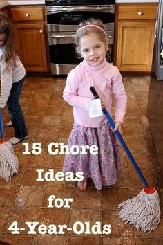15 Chore Ideas for a 4 Year old!