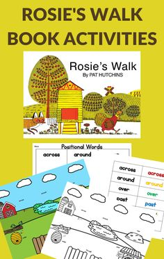 Grab these free printable activities to go with the book, Rosie's Walk. All the Rosie's Walk activities work on positional words. #bookactivities #GrowingBookbyBook #positionalwords #teaching Kindergarten Blogs, Preschool Learning Activities, Preschool Books, Reading Activities, Science Activities, Rosies Walk, Farm Theme, Learn To Read, The Book