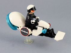 Futuristic City - Police Patrol Hover Bike   by BobDeQuatre