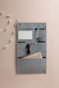 Felt wall storage | organisér | gray