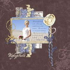 I modified this layout and did a remembrance of my mother in her wedding dress.
