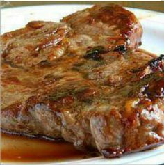 Crockpot Ranch Pork chops:   package of boneless pork chops 1 can of Cream of Chicken soup 1 packet dry Ranch dressing mix  In crockpot layer pork chops, add the cream of chicken soup, then sprinkle dry Ranch dressing all over. Cover and cook on high for 4 hours OR Low for 6 hours.  The porkchops come out very tender and the flavor is amazing! You also get a good gravy for mashed potatoes