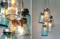 romantic vintage weddings chandeliers with mason jars 1