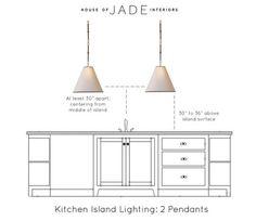 Kitchen Island Light Height - Home Design Interior and Exterior Spirit