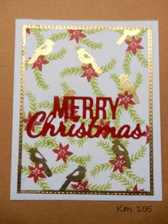 https://flic.kr/p/zMEady | Merry Christmas |                               I have been doing a lot of Christmas cards lately and I seem to have this fixation on the gold embossing any way I made another card for three challenges.  a2z Scrapbooking, Hero Arts and Merry Monday Christmas Challenge. a2zscrapbookingblog.com/2015/11/01/a2z-scrapbooking-novem... merrymondaychristmaschallenge.blogspot.com.au/ heroarts.com/challenge/ TFL