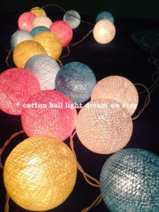 20 Mix sweet balls lighting by cottonballlightdream on Etsy Round Patio Table, Patio Bar, Diy Patio, Patio Steps, House Party Decorations, Light Decorations, Rainbow Curtains, Cotton Ball Lights, Diy Outdoor Bar