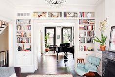 Doorway Built Ins, Eclectic, living room, Blair Harris Interior Design Bookshelves Built In, Built Ins, Bookcases, Book Shelves, Bookshelf Styling, Decorate Bookshelves, Open Shelves, Inspiration Design, Interior Inspiration