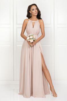 ccfd86d1a7 ELISA długa cielista sukienka dla druhny Sukienki Na Imprezy