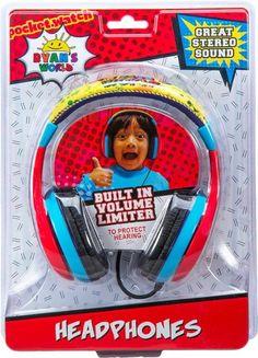 eKids – Ryan's World Wired On-Ear Headphones – Yellow/Red/Blue/Black headphone quates – Headphone Blue Black Color, Red And Blue, Blue Yellow, Ryan Toys, Caleb, Logan, Kids Headphones, Toys For Girls, Girl Toys