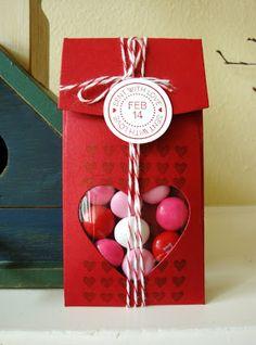 penguinstamper: Petite Pocket Valentine's Day Treat Container