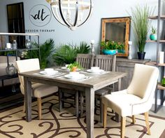Irish Coast Dining set by LH Imports in Black Olive stain. Made from reclaimed wood