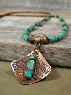 Turquoise Necklace  Beaded Necklace  Womens by StoneWearDesigns.etsy.com