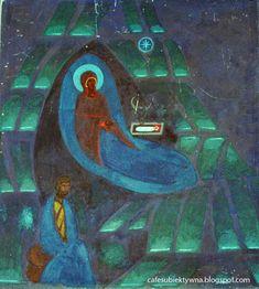 Jerzy Nowosielski - sacrum full of passion. Interior of the church and chapel in Wesoła, Warsaw. Church Interior, Warsaw Poland, Christmas Nativity, Sacred Art, Global Art, Western Art, Christian Art, Hanging Art, Ikon