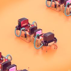 TANGOWHISKEY ROBOTS EXHEBITION  by Dor Shamir, via Behance