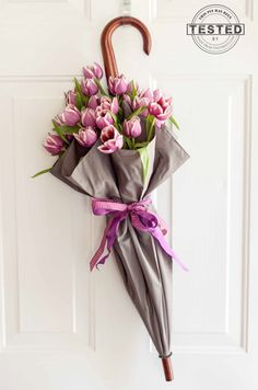 5 Minute Umbrella Wreath - pinterest tested!