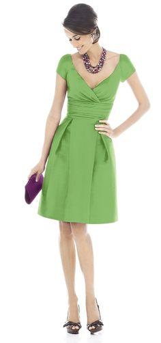 green dress, Alfred Sung Bridesmaid Dresses - Style D502 - Peau de Soie | Weddington Way at Weddington Way