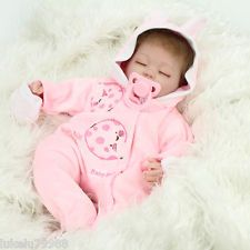 Handmade Reborn Baby Dolls Realistic Soft Vinyl Real Life Baby Doll Girls Gift