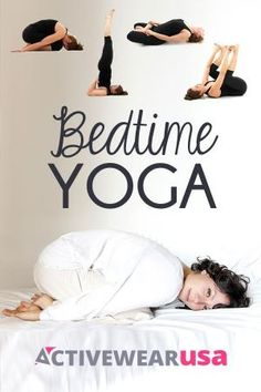 Prepare your body and mind for peaceful snoozing with these four relaxing poses you can do right before you hit the sack. #yoga #peace #sleep by sally tb