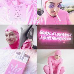 pink guy aesthetic