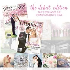 On sale now! The debut Spring/Summer 2016 edition of Contemporary Weddings Magazine @contempweddings