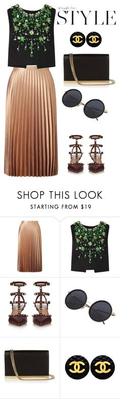 """happy saturday"" by omahtawon ❤ liked on Polyvore featuring beauty, Miss Selfridge, Miu Miu, Valentino, Diane Von Furstenberg and Chanel"