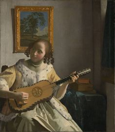 The guitar player - Jan Vermeer Paintings (1672) #girl #guitar #oil ▓█▓▒░▒▓█▓▒░▒▓█▓▒░▒▓█▓ Gᴀʙʏ﹣Fᴇ́ᴇʀɪᴇ ﹕ Bɪᴊᴏᴜx ᴀ̀ ᴛʜᴇ̀ᴍᴇs ☞  http://www.alittlemarket.com/boutique/gaby_feerie-132444.html ▓█▓▒░▒▓█▓▒░▒▓█▓▒░▒▓█▓